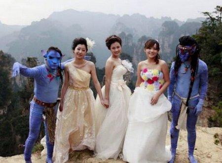 Очень необычные свадьбы
