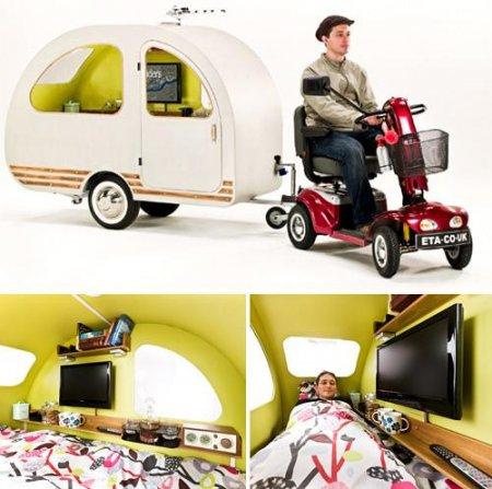 QTvan: миниатюрный трейлер для скутера