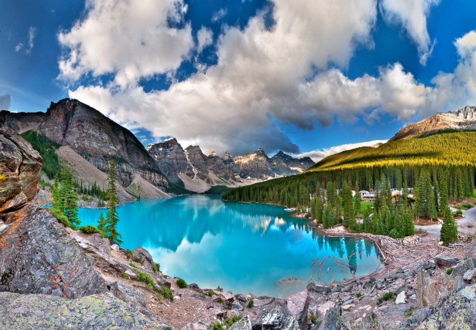 Victoria Glacier, Lake Louise, Banff National Park, Alberta, Canada  № 193176 загрузить