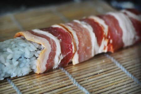 [японская кухня] Ролл Кунсей батакан