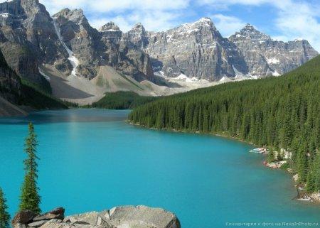 Озеро Морейн (Альберта, Канада)