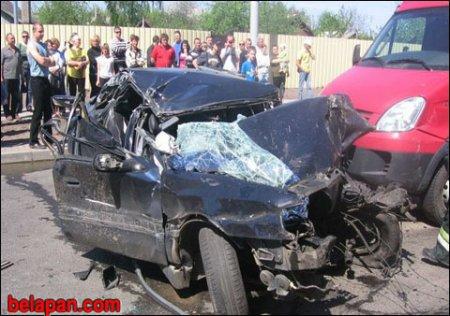 В Гомеле пьяный водитель Renault спровоцировал аварию четырех автомобилей