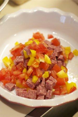 Киш с овощами и мясом
