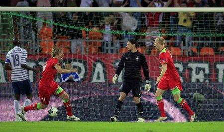 Сборная Беларуси по футболу сыграла вничью с командой Франции