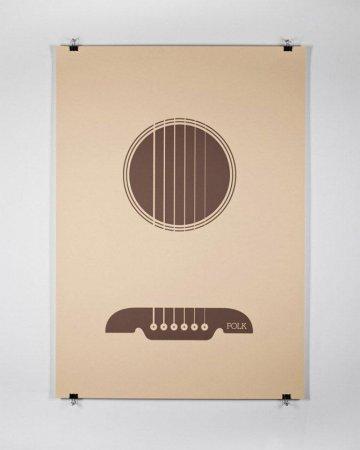 Музыкальные жанры в виде постеров