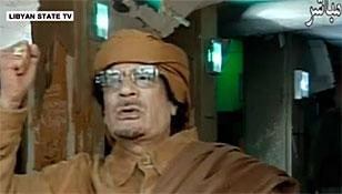 Каддафи пригрозил ударами по странам Европы, по домам, офисам и семьям