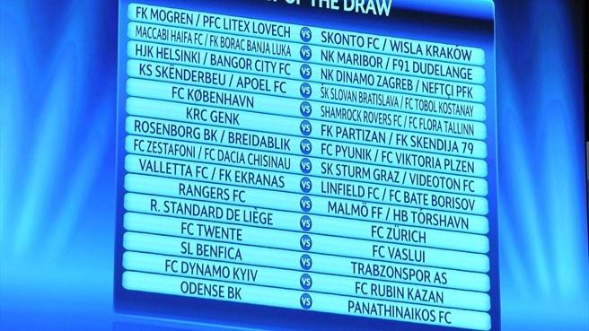 Лига Чемпионов 2011/12. Жеребьёвка 3-го квалификационного раунда.