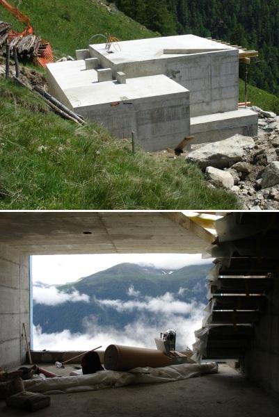 Переделка сарайчика в Швейцарских Альпах