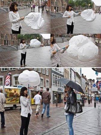 Покупка японских зонтов.