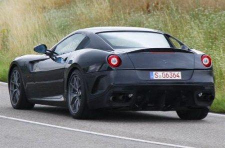 Началось тестирование гибридной Ferrari на базе модели 599 GTO