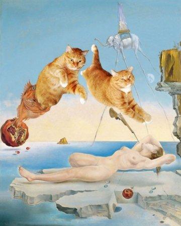 Коты и шедевры мировой живописи