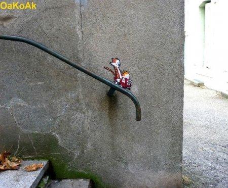 Стрит-арт в исполнении OaKoAk