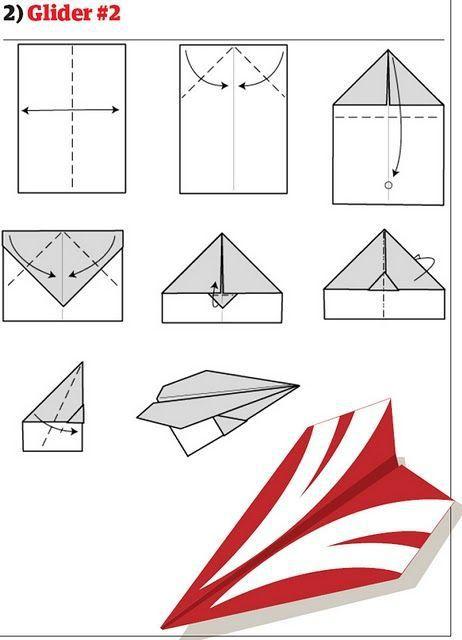 Разные способы делать бумажные самолетики