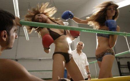 Разборки девчонок на ринге