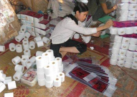 Как в Китае туалетную бумагу делают
