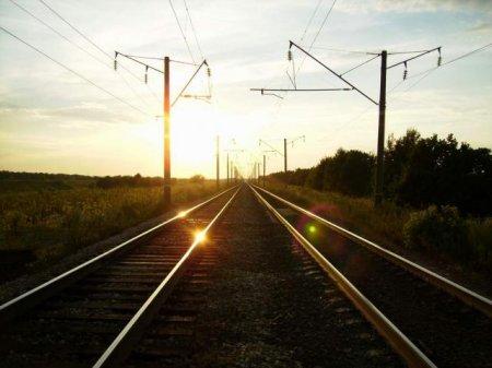 Минчанин голосовал на железнодорожных путях