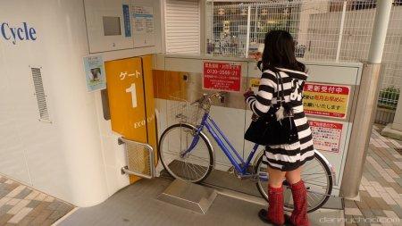Японская парковка для велосипедов