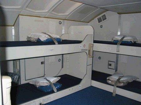 Каюты для сна в самолетах
