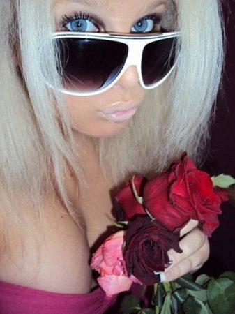Розово-блондинистый гламур в стразиках