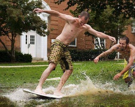 Ураган Ирена приносит людям радость!