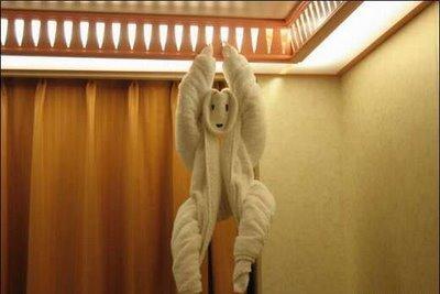 А вам слабо сделать такое с полотенцем?