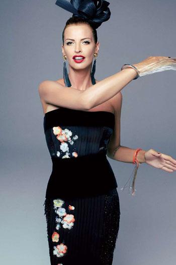 Высокая мода в духе pin-up: Ольга Родионова для L`Officiel Paris