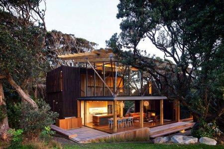 Пляжный дом Under Pohutukawa от Herbst Architects