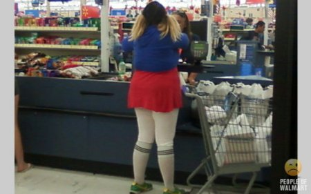 Забавные люди из супермакетов США