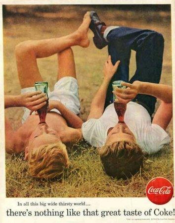 Винтажная реклама кока-колы