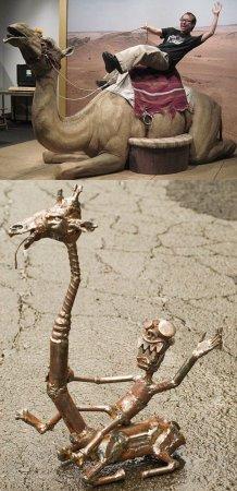 Люди и скульптуры