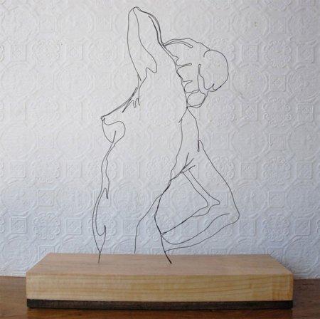 Скульптуры из проволоки Гевина Ворта
