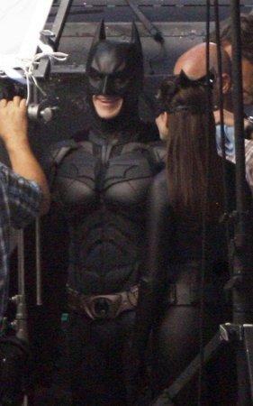 На съемках нового Бэтмена