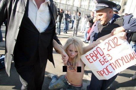 Протесты FEMEN против Евро-2012