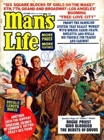 """Обложки журнала """"Man's Life"""""""