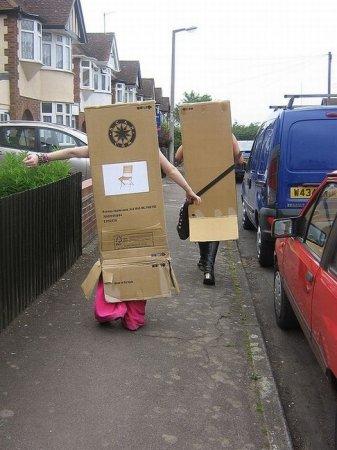 Люди-коробки