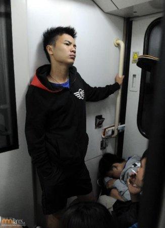 В китайской электричке