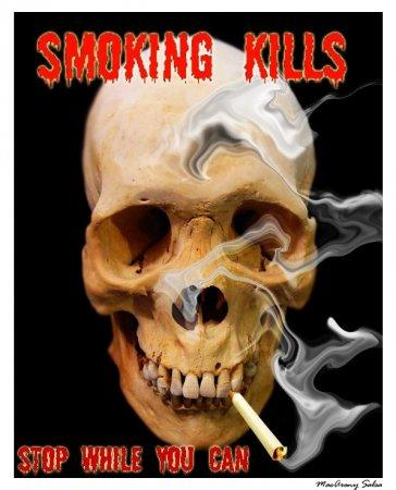 Креативные плакаты на тему борьбы с курением.