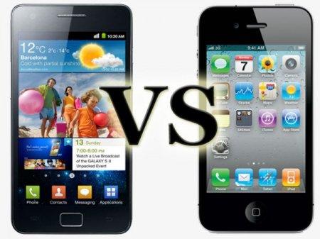 Краш-тест смартфонов iPhone 4S и Samsung Galaxy S II