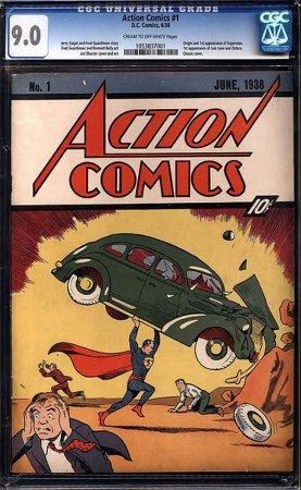 На аукцион выставлен самый дорогой комикс в мире Action Comics No.1 за 2.000.000$