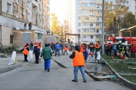 Обрушение строительных лесов в Зеленограде