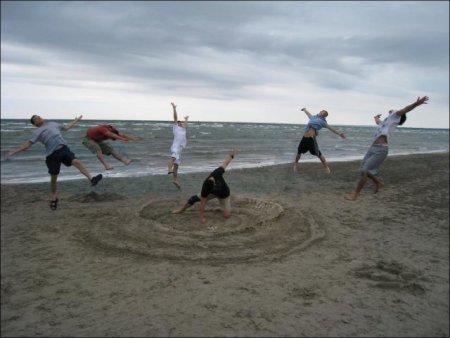 Творческая обработка пляжного прикола