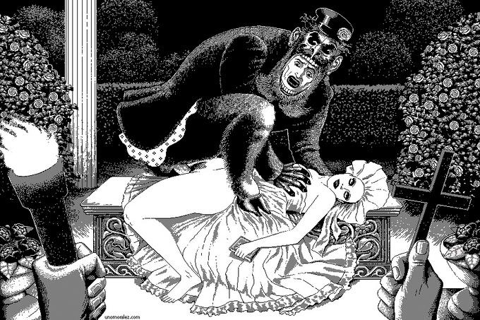 Аморальные рисунки  Uno Moralez
