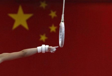 Тренировки китайских гимнастов