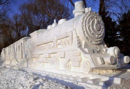 Что можно из снега сделать