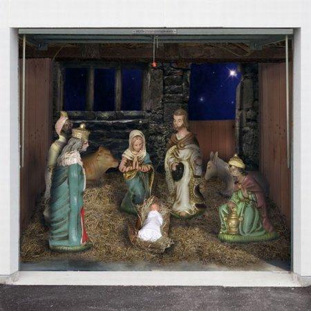 Наклейки на гаражные ворота к Рождеству