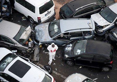 Авария на немецком автобане