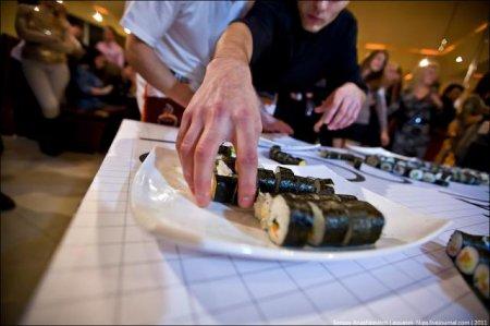 Рекордное панно из суши приготовили в Севастополе