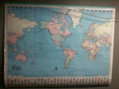 Карта мира из разных стран,как она выглядит