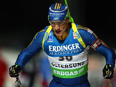 Биатлон. Бергман выиграл спринт в Эстерсунде