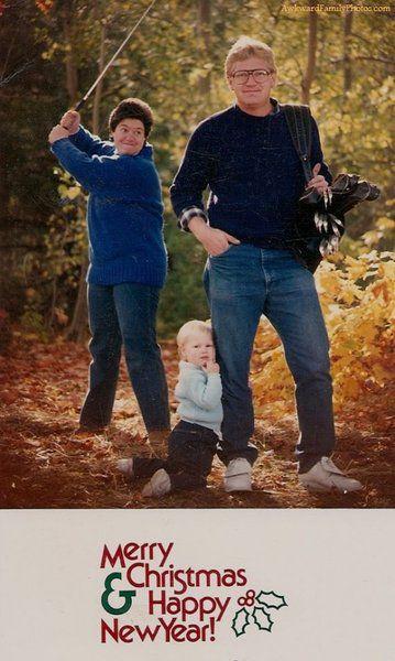 Дебильные семейные фото на Рождество